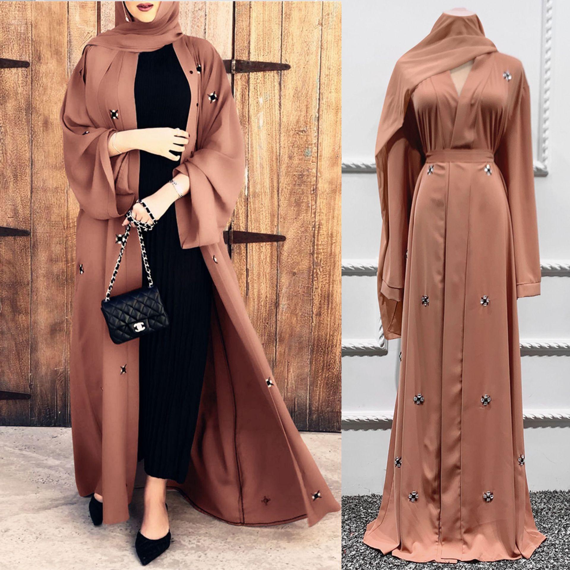 Ramadan Eid Open Abaya Dubai Turkey Hijab Dress Abayas for Women Mubarak Arabic Islam Clothing Caftan Kaftan Robe Djellaba Femme