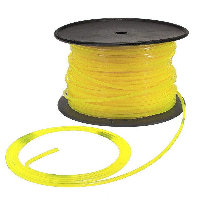Cable de nailon cuadrado amarillo de 100m y 3mm para cabezal de corte STIHL Strimmer, cortacésped Universal Strimmer Square Wire
