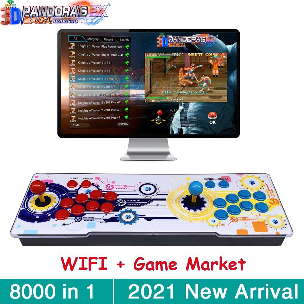 ثلاثية الأبعاد باندورا ساغا صندوق EX WIFI 8000 في 1 حفظ وظيفة متعددة المقود ريترو ممر لعبة وحدة التحكم خزانة دعم 4 لاعبين