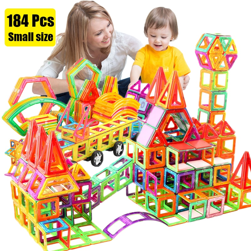 64-184 stücke Mini Magnetische Designer Bau Set Modell & Gebäude Spielzeug Kunststoff Magnetische Blöcke Pädagogisches Spielzeug Für Kinder geschenke