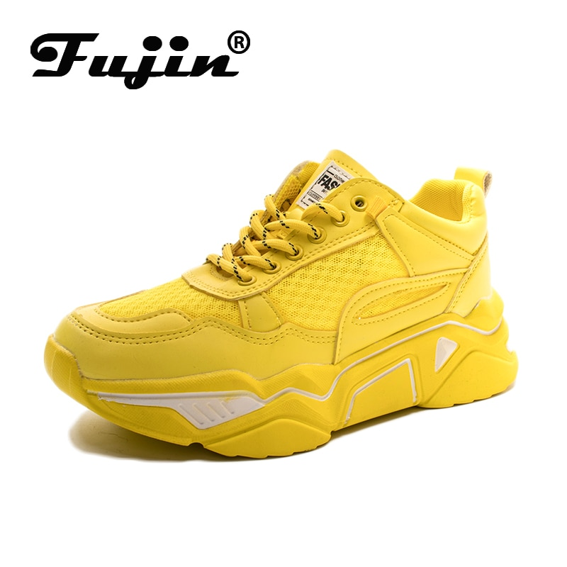 Fujin womens platform sneaers Causal Shoes walking Increasing 5CM INS Sneakers Height Platform Breathable vulcanize Sneakers
