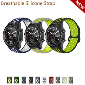 20mm 22mm Silicone Band Strap for Ticwatch Pro 3 E2 S2 GTX Replacement Watchband
