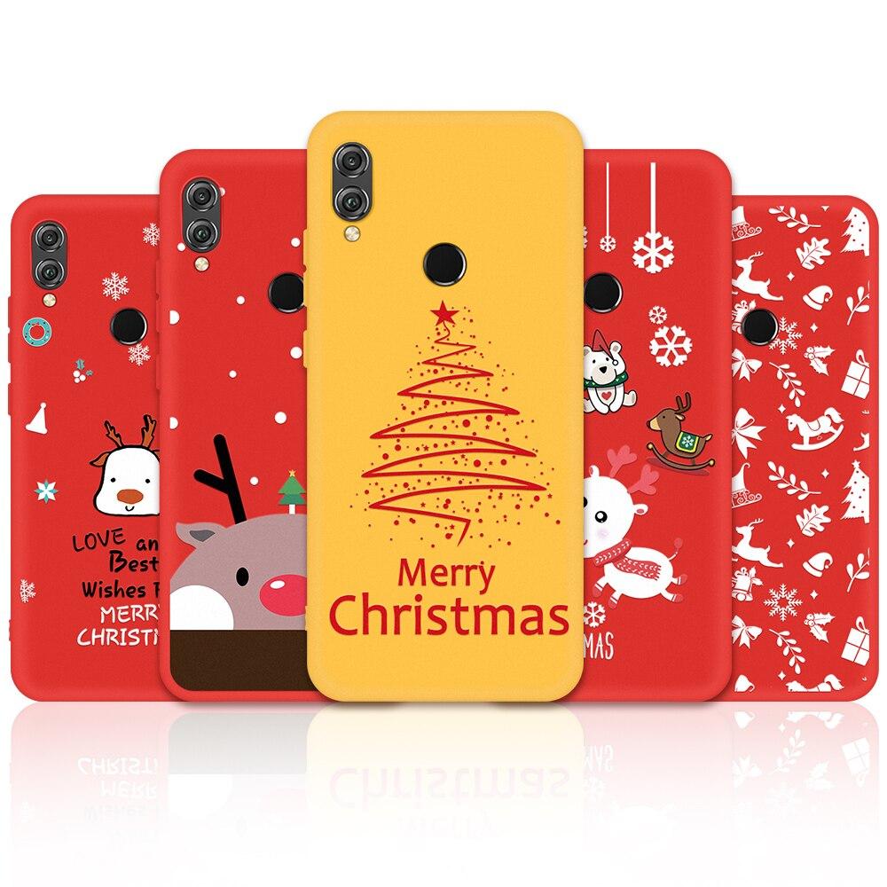 Funda de teléfono de Feliz Navidad Honor 8X9X20 10 Lite para Huawei P20 P30 Lite Nova3e nuevo año de regalo pintado Shell Honor 8 X funda
