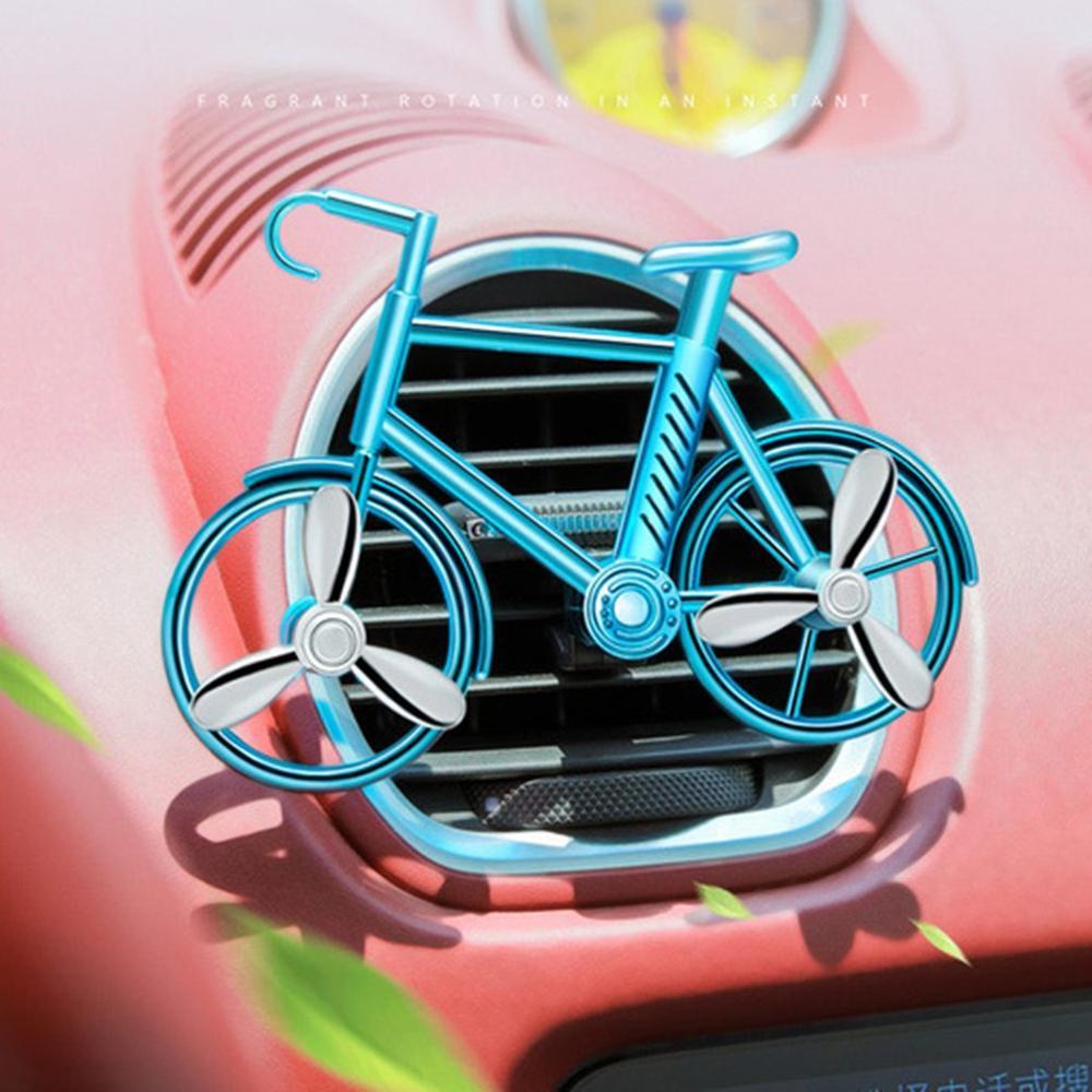 Rejillas de ventilación del coche ambientador de coche Clip de aire acondicionado difusor de Perfume en forma de bicicleta decoración Interior ambientador de coche