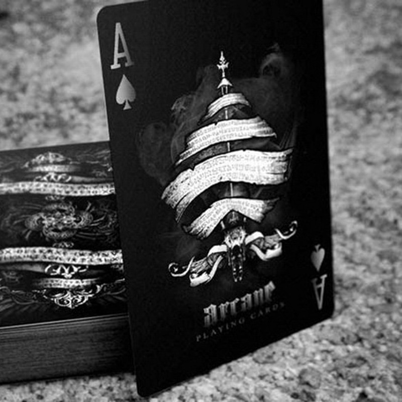 1 шт., черно-белые и черные карты для игры в покер на велосипеде, волшебные бумажные карты с бесплатной доставкой