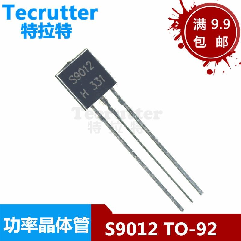 100 pcs/Lot Transistor S9012 9012 S9012 TO-92