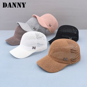 Summer Knitted Mesh Breathable M-shaped Hollow Women's Baseball Cap Outdoor Sports and Leisure High-quality Women's Sun Hat