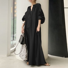 2021 Autumn Dress Fashion Women Lantern Sleeve V Neck Shirt Dress Japanese Ladies Oversize Bag Swing