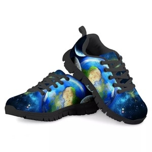 HYCOOL Stars Planet Print Kids Shoes For Girl Casual  Children School Sport Shoes Boys Running Sneakers Outdoor Footwear Winter