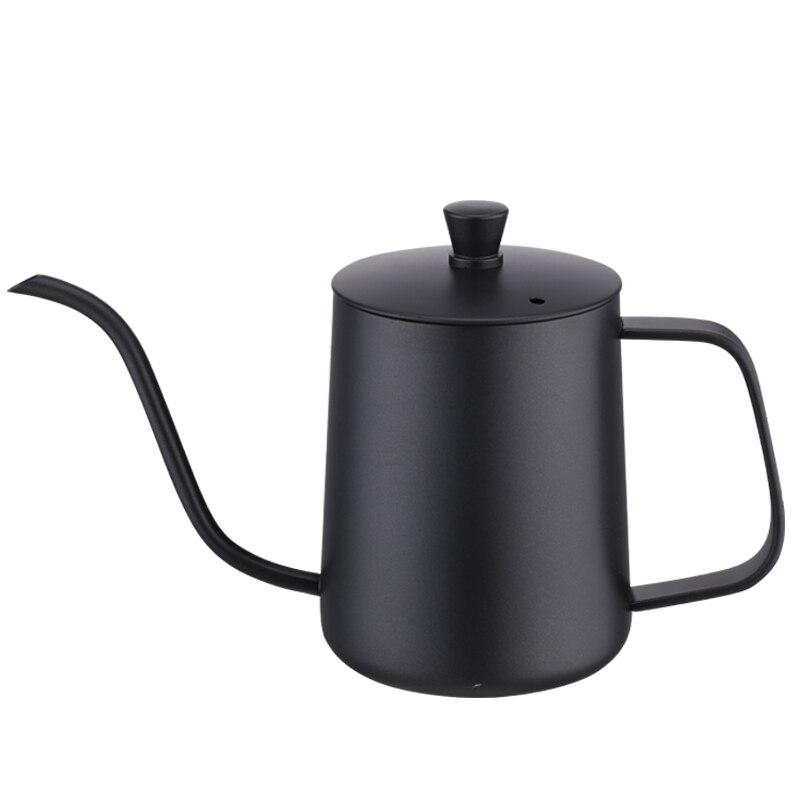 Filtro longo estreito pote de café inoxidável pequeno gooseneck portátil café pote beleza espresso francesa cafeteira bf50cp