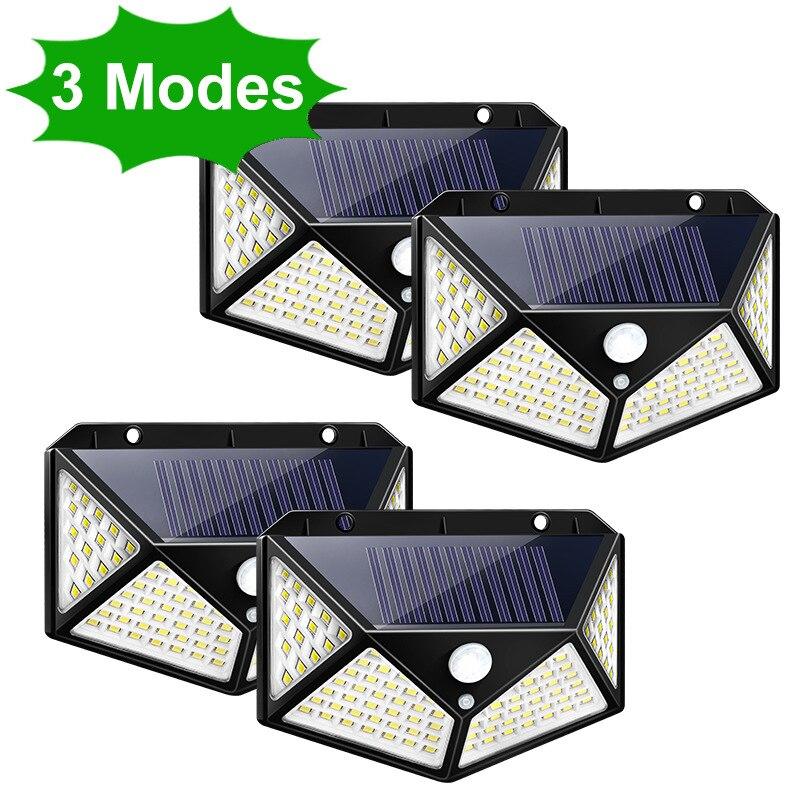 Solar Led Light Outdoor PIR Motion Sensor Wall Waterproof Powered Sunlight for Garden Lights