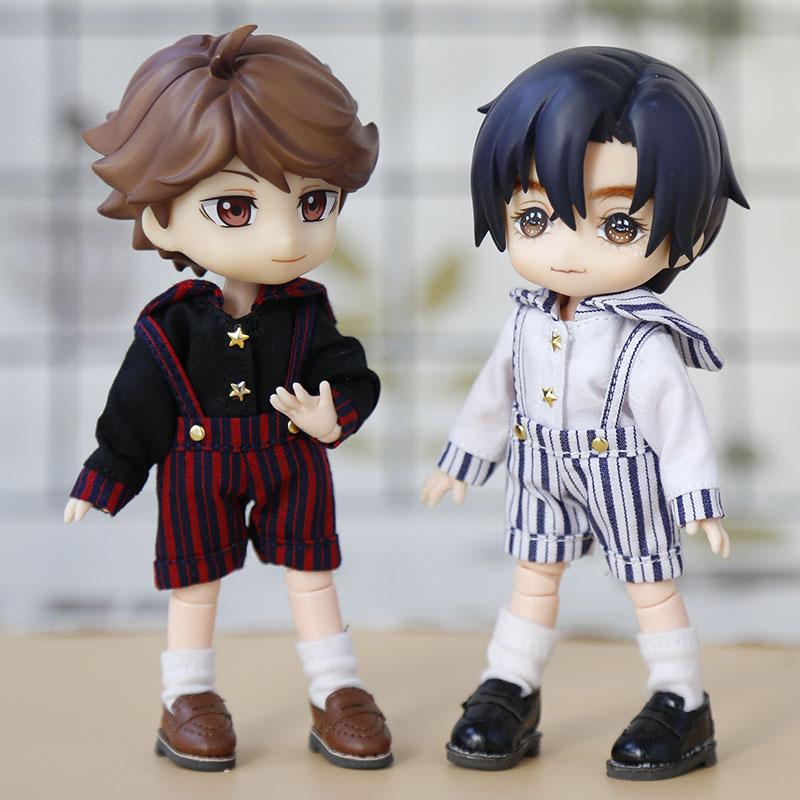 1 / 12bjd doll clothes ob11 doll clothes GSC body9 Molly wear sailor suit strap style uniform small navy school uniform set toy