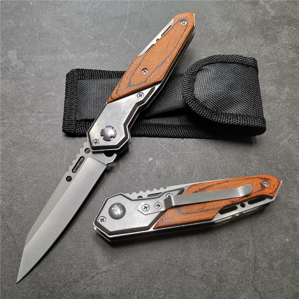 200 مللي متر (7.9 '') سكين 57HRC الصلب 5Cr15 شفرة للطي جيب أدوات تكتيكية لحفظ الحياة التخييم السكاكين EDC أدوات السكاكين التكتيكية
