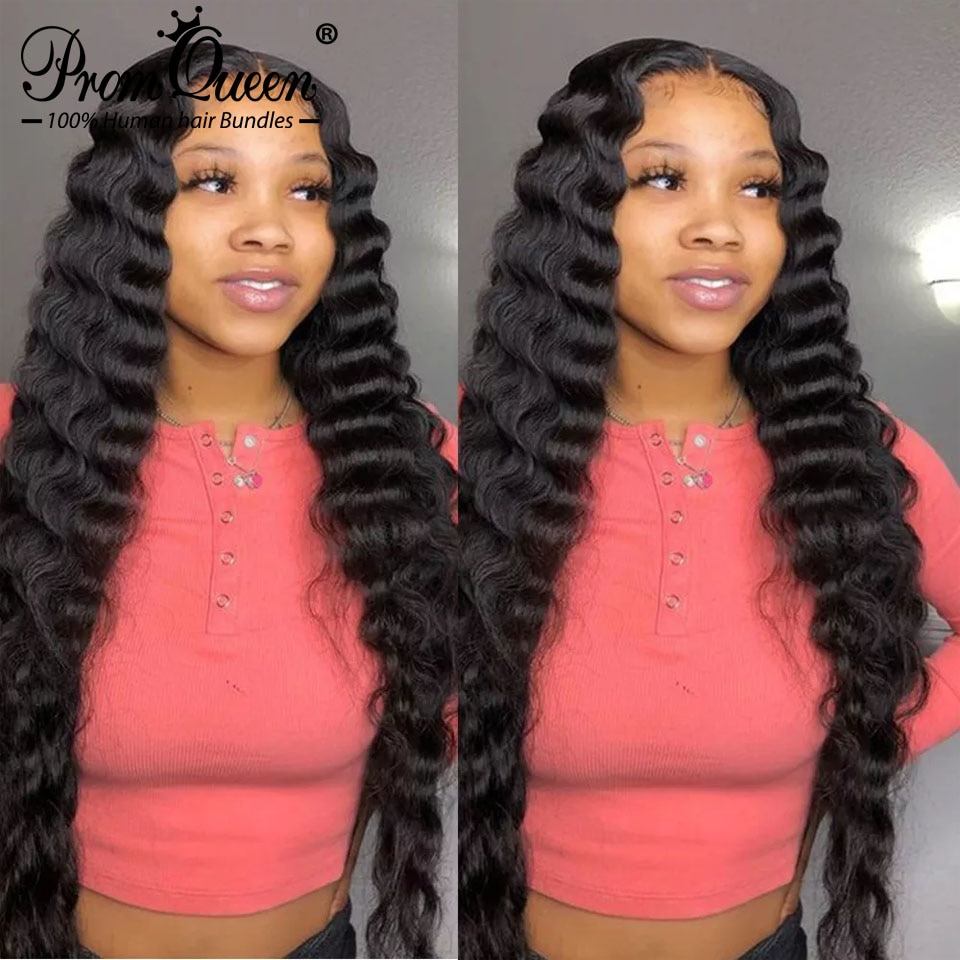 4x4 5x5 6x6 Transparent Loose Deep Wave Wigs Brazilian Human Hair Wigs13x6 HD Lace Front Human Hair Wig Promqueen Wig For Woman