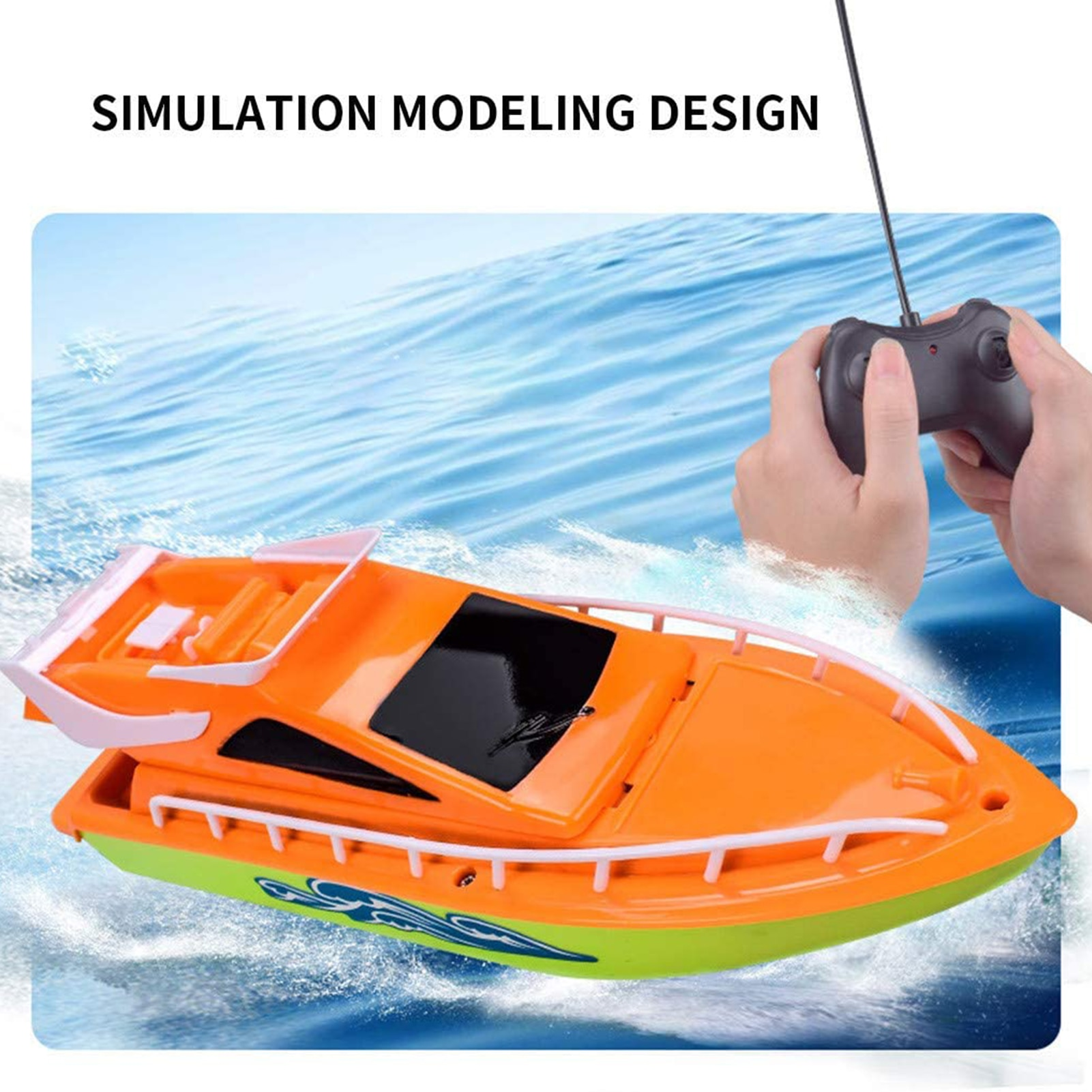 RC Boat Toy Twin Motor High Speed Boat Easy To Use Remote Control Ship Toys For Kids Boys Girls Gift