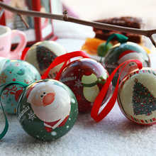 4cm Christmas Tree DecorationsXmas Pendant Cartoon Santa Claus Elk Ball Home Christmas ornaments New Year 2022