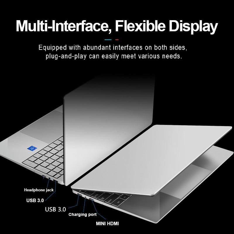 RAM 16G 36GB 2TB SSD Ultrabook Metal Computer with 2.4G/5.0G Bluetooth Ryzen R7 2700U windows10 Pro Metal portable gaming laptop