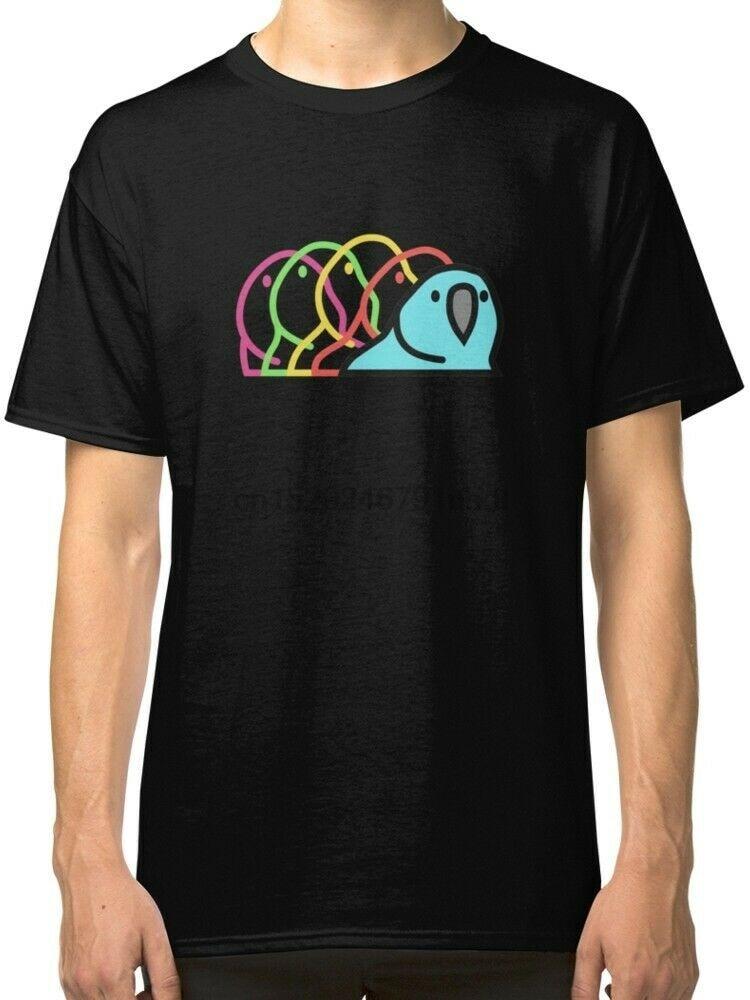 Fiesta Parrot - Slack emoticono loro estilo hombres camiseta negra