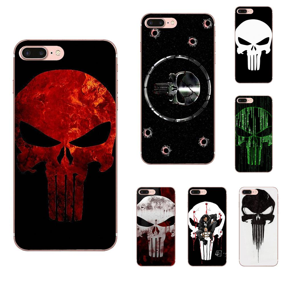 Comic negro Punisher patrón de logotipo para iPhone 11 Pro XS Max...