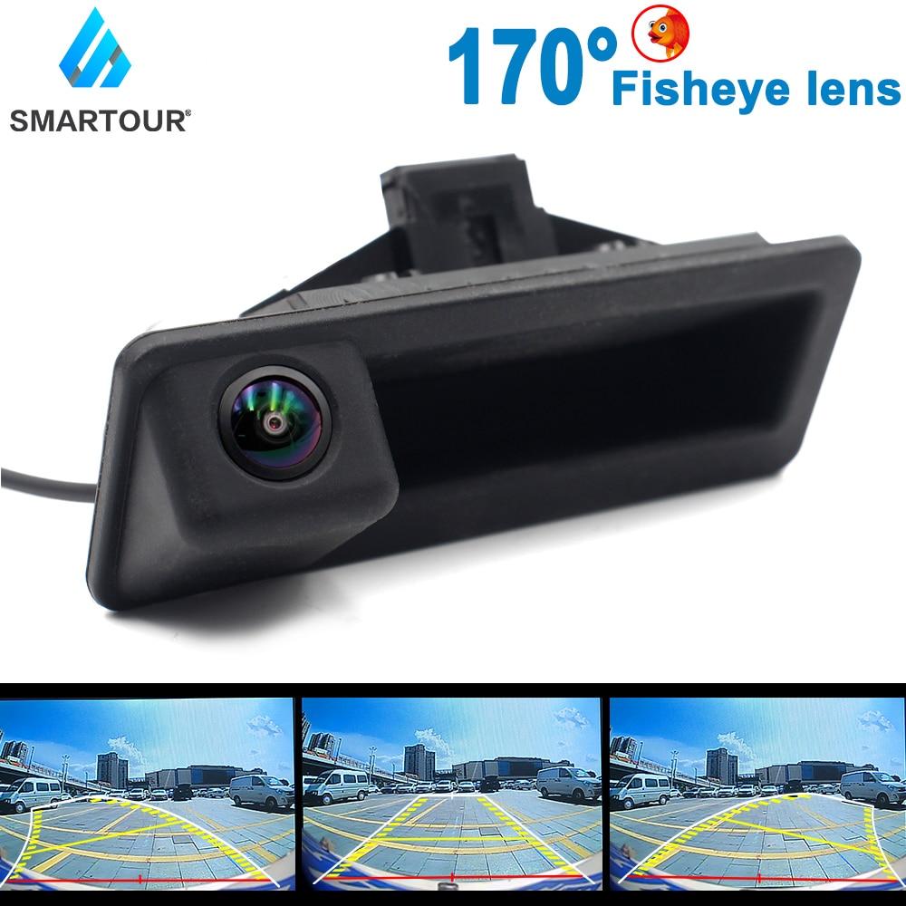 Автомобильный HD 1080P рыбий глаз трек автомобильный Реверсивный резервный багажник ручная камера для BMW 5 серии BMW 3 серии BMW X1 X513/14 BMW X6