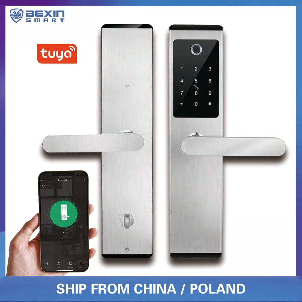 Review TUYA VA6 Stainless Steel Smart Biometric Fingerprint Digital Lock For Entrance Security Door