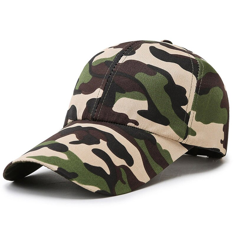 Camouflage Men Women Baseball Cap Outdoor Sports Tactical Long Visor Snapback Hip Hop Army Jungle Climbing Sun Hat Gorras MZ0249