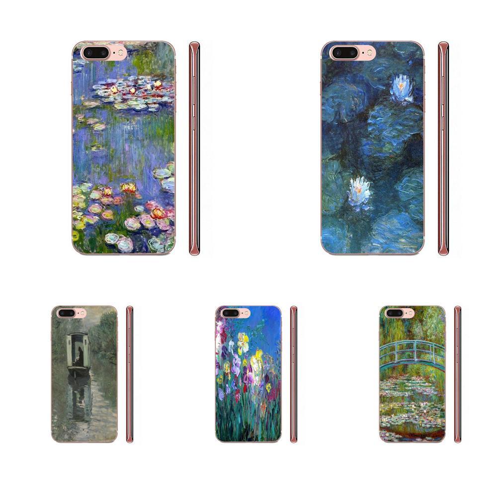Patrón de Claude Monet impresionismo para Samsung Galaxy A10 A20 A20E A3 A40 A5 A50 A7 J1 J3 J4 J5 J6 J7 2016 de 2017 a 2018