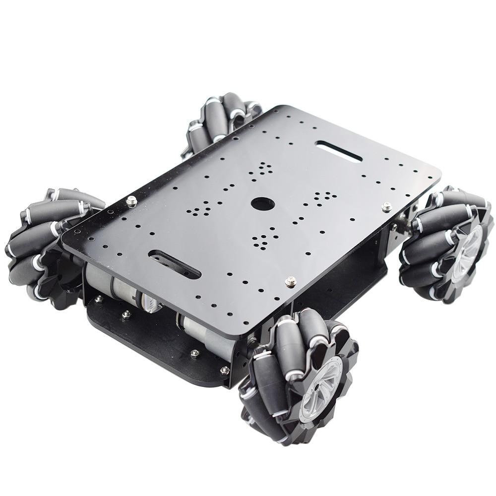 جديد 5 كجم تحميل هيكل مزدوج Mecanum عجلة سيارة روبوت هيكل عدة مع 4 قطعة 12 فولت التشفير المحرك لاردوينو التوت Pi لتقوم بها بنفسك الجذعية