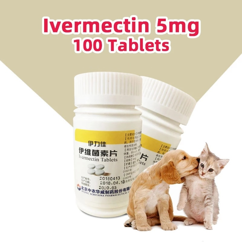 100 Tablets/bottle Ivermectin Tablets For Livestock Poultry For Cats&Dogs Pet oral repellent dog cat stuff customized products