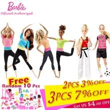 Барби авторизоваться бренд 7 Стильная обувь игрушки модные Куклы Йога Модель Игрушки для маленьких девочек подарок на день рождения Barbie Girl ...