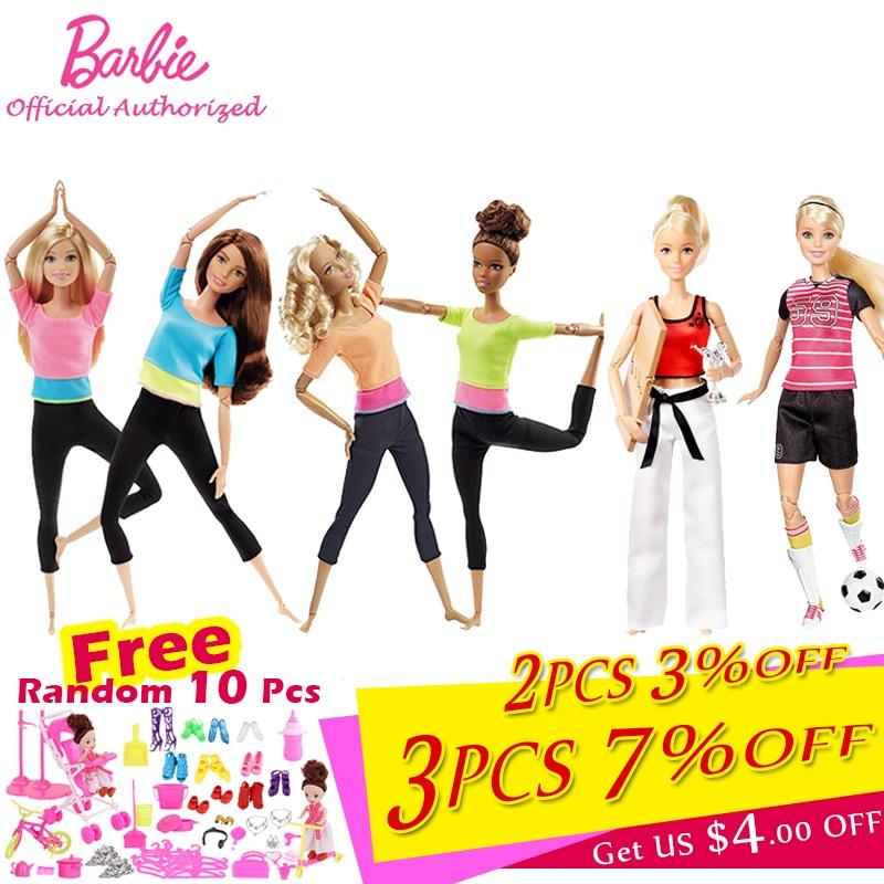 Barbie autorice muñecas de moda de 7 estilos, juguete modelo de Yoga para niña pequeña, regalo de cumpleaños, chica Barbie, modelo Boneca DHL81