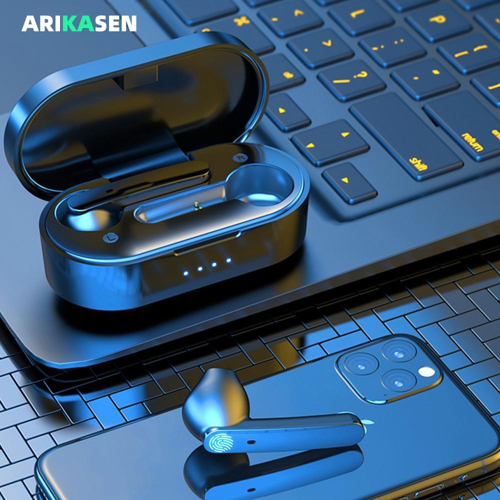 Auricular tws 5,0, inalámbrico por Bluetooth, Mini auriculares deportivos intrauditivos estéreo con sonido a prueba de agua IPX5
