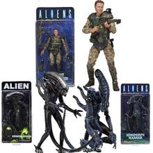 7,2 zoll 18cm NECA Aliens vs Predator Sergeant Craig Windrix Xenomorph Krieger Action Figur Modell Spielzeug Puppe