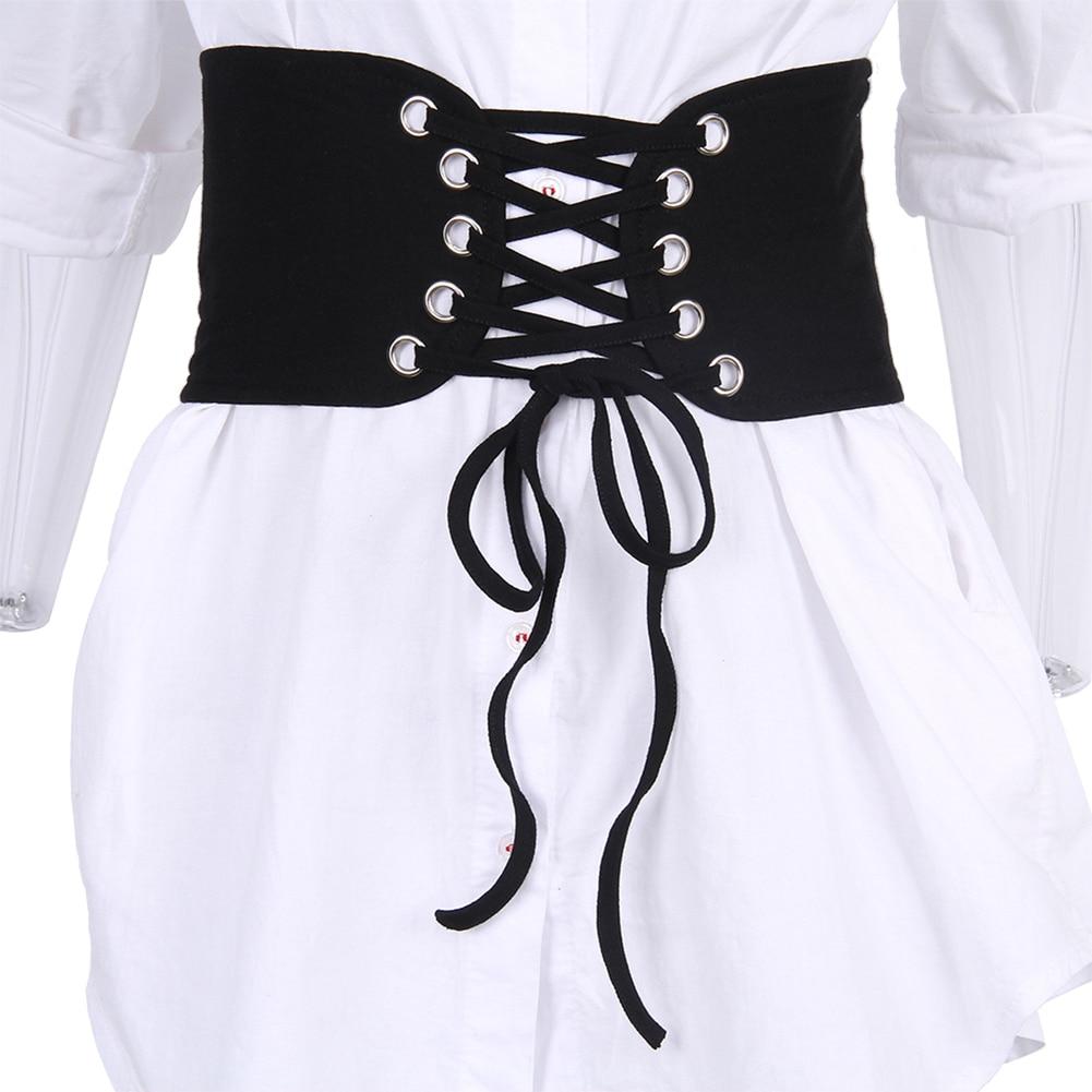 Hot Sale Fashion Women's Vintage Lace Up Stretch Waist Belt Wide Elastic Corset Waistband Slim Fit Unique Elegant Accessories