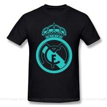 Camiseta clásica con Logo Real Madrided, Camiseta básica con estampado de letras para hombre, camiseta de manga corta con diseño divertido, camiseta estampada para hombre