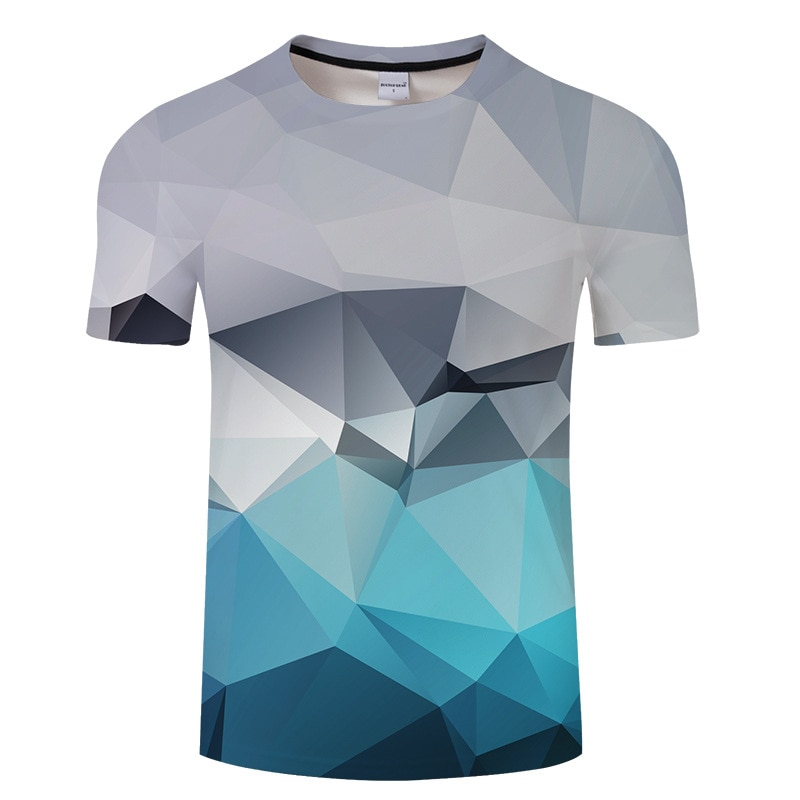 Harajuku estilo camiseta hombres 3D geométrica impresa camisetas para hombre Camiseta Homme verano corto Sleelve Camiseta Hombre