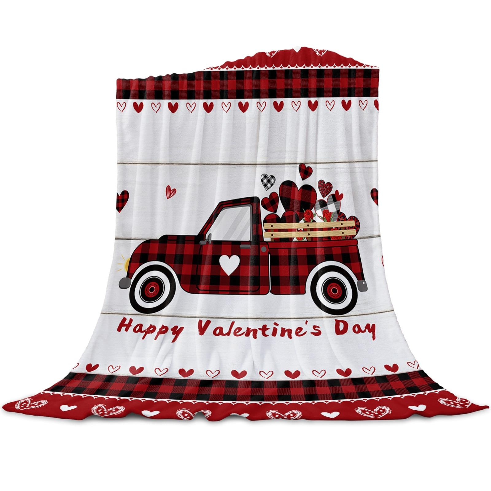 عيد الحب شاحنة الحب سبورة خشبية رمي بطانية للأسرة ستوكات الفانيلا بطانية دافئة أريكة الفراش المفرش الهدايا