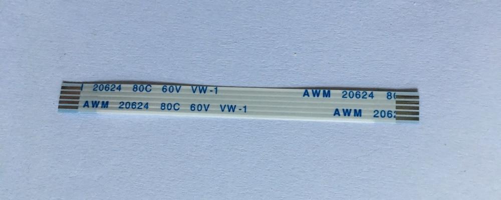 WZSM-Cable plano Flexible, AWM 20624 80C 60V 1,0mm, 5 pines 70mm 90mm150mm...