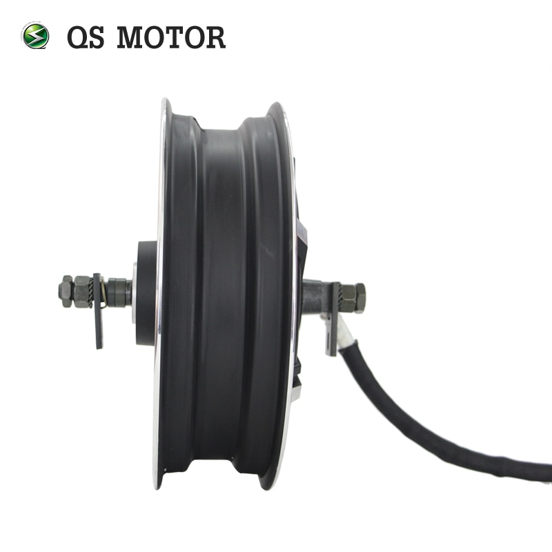 QS Motor 13*3.5inch 4000W 273 V3 High Power Hot Sale BLDC Gearless Motor In-Wheel Hub Motor For Electric Scooter enlarge