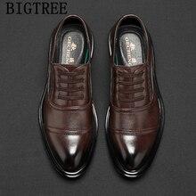 Chaussures daffaires hommes en cuir Vintage chaussures hommes Oxford Coiffeur robe de soirée chaussures de bureau hommes classique robe de mariée 2020 Ayakkabi