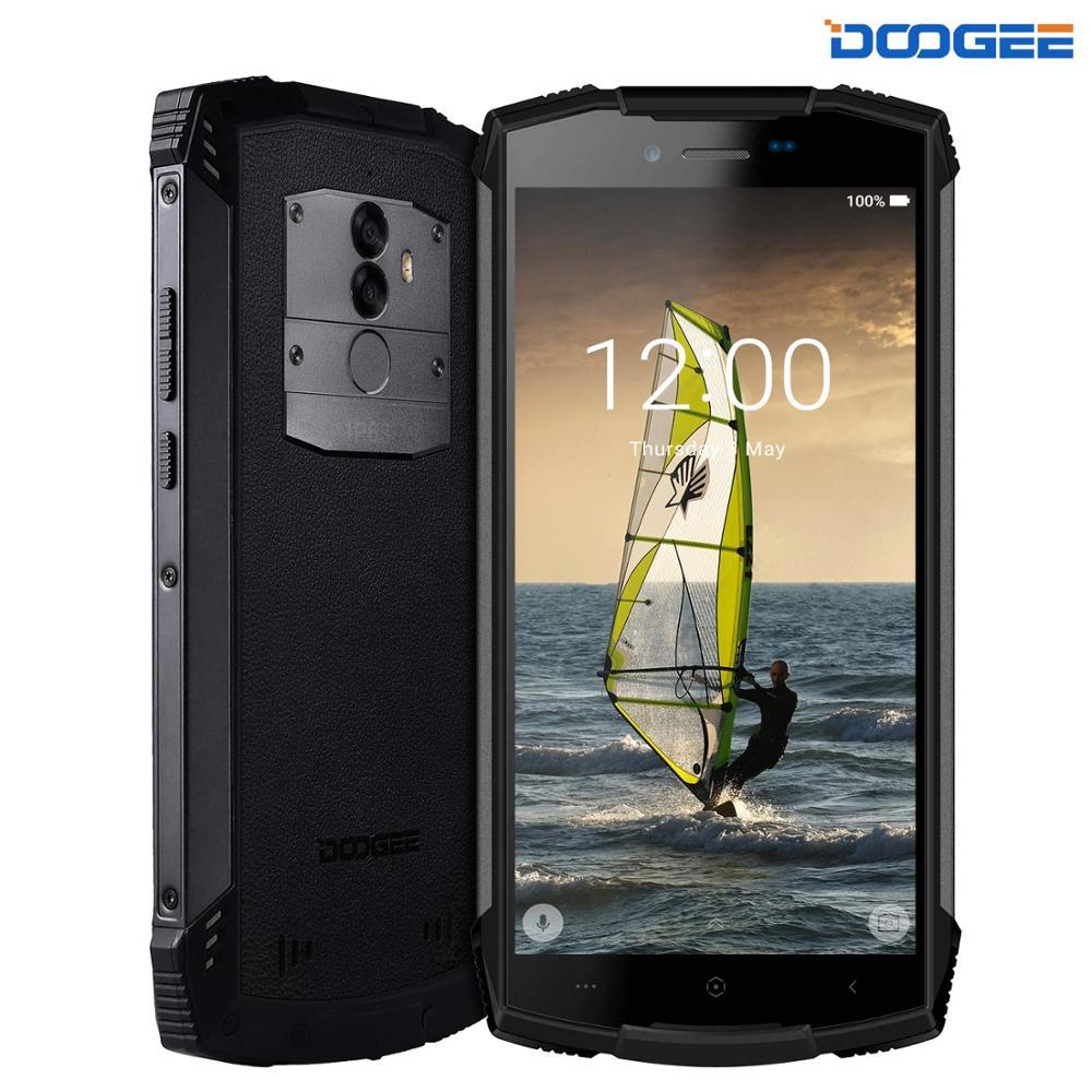 Перейти на Алиэкспресс и купить Прочный мобильный телефон DOOGEE S55 Lite IP68 разблокированный на открытом воздухе смартфонов 4G двух сим-карт, c операционной системой андроид 8,1 5,5 ...