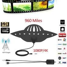 Antenne de télévision numérique HDTV 1080P   Haute définition, en forme UFO, protection de lenvironnement, distance de transmission haute qualité