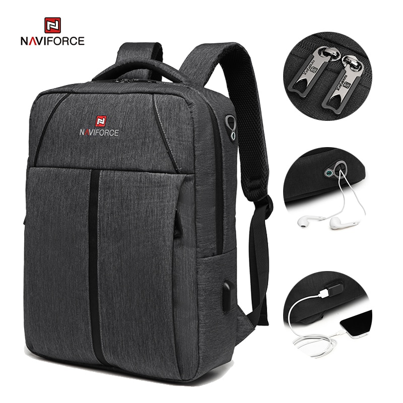 NAVIFORCE Business Laptop Backpack with USB Charging Lightweight Large Capacity Travel Waterproof Ba
