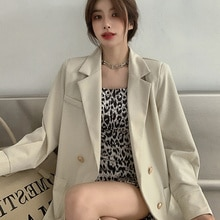 Autumn Korean 2021 Suit New Net Red Leisure British Temperament Long Sleeve Double Breasted Coat Wom