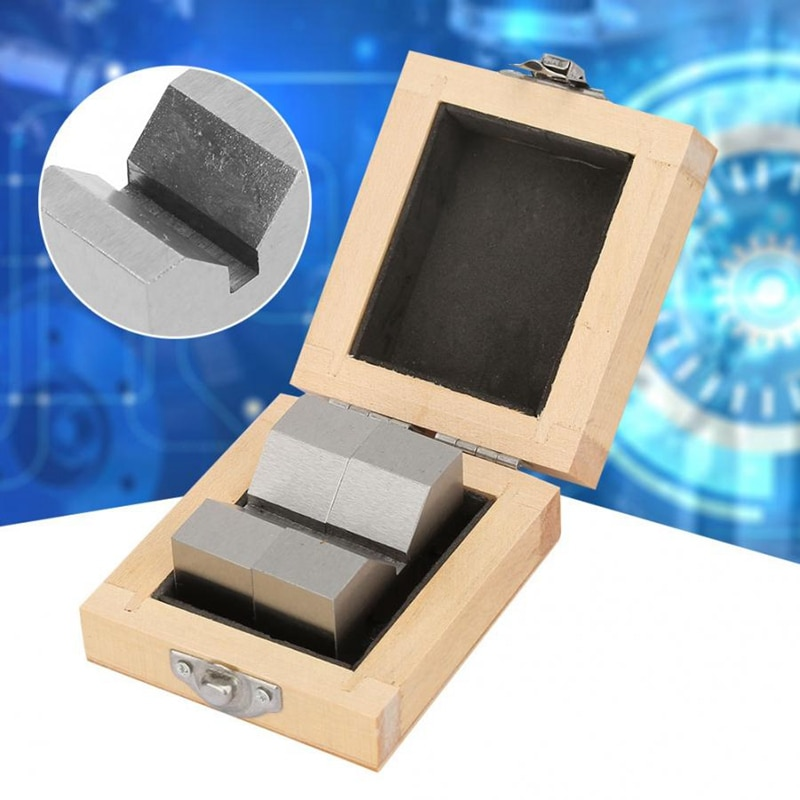 TOP 2Pcs Hohe Genauigkeit Carbon Stahl M Typ V-Block 50mm für Plattform Messung