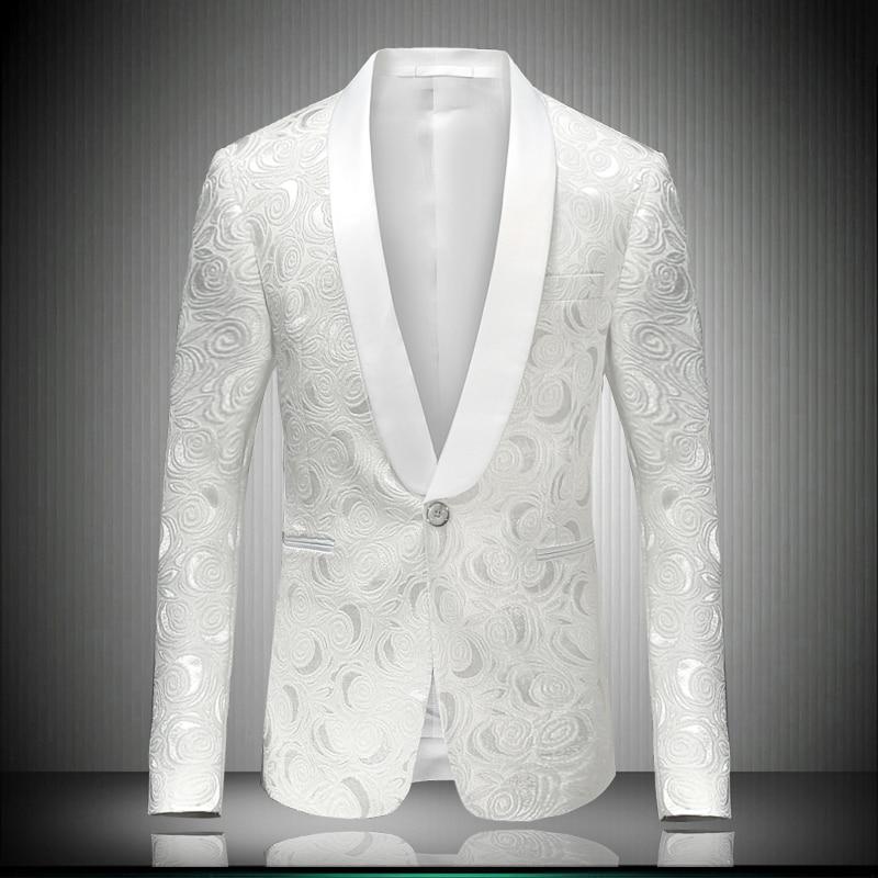 Белый мужской блейзер, приталенный Повседневный Блейзер, Свадебный костюм, мужской блейзер, облегающие мужские костюмы, деловые мужские ко...