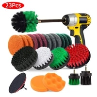electric drill cleaning brush for grout tiles sinks bathtub bathroomtub drill brush and scrub pads attachments set
