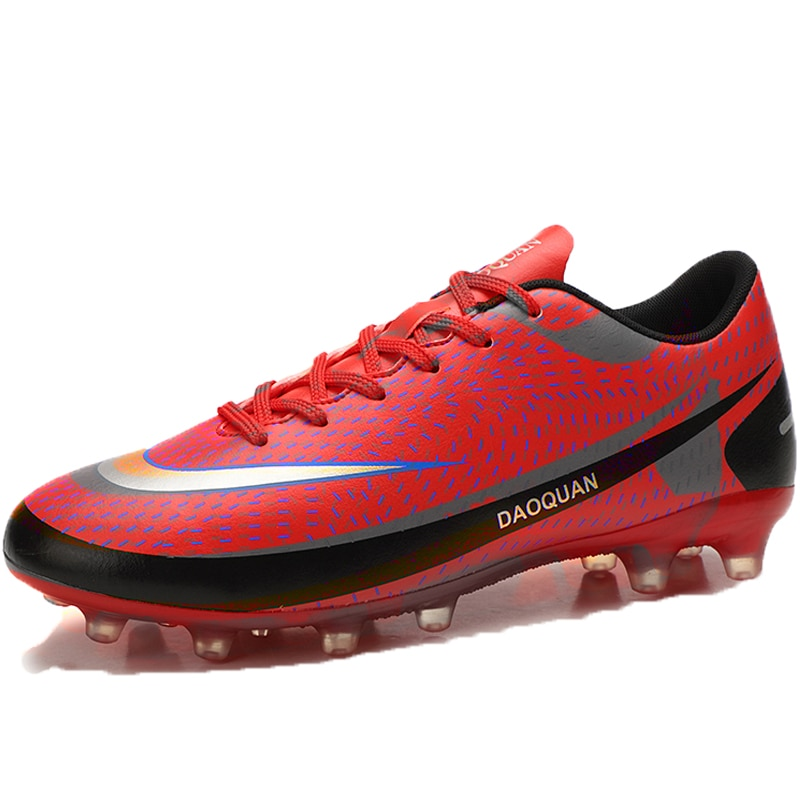 New fashion high quality long spike football shoes outdoor boys breathable waterproof football shoes non-slip sports shoes for m