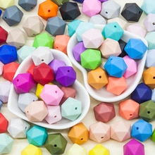 Cute-idea Silicone Beads Polygon 17mm 10pcs BPA Free sensory  Baby products Chewable Teething Pacifi
