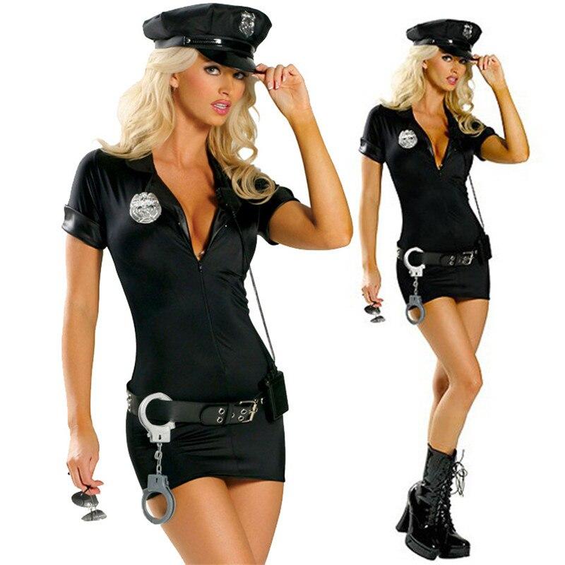 Sexy Female Cop Police Officer Uniform Policewomen Costume Halloween Adult Women Police Cosplay Fancy Dress Size S-3XL